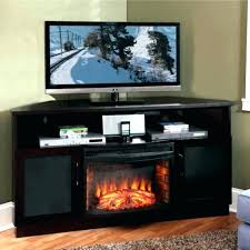 electric fireplaces tv stands wood black electric fireplace stand rh marcoh me