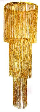 3 tier foil chandelier gold