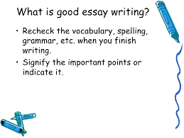 lecture what is good essay writing 4