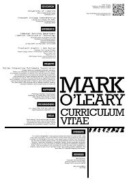 Curriculum Vitae Design Typography Creative Cv And Cv Ideas