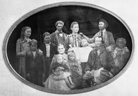 Florida Memory • Thompson and Mary Fields and their ten children.