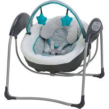 Graco Glider Lite Baby Swing, Finch - Walmart.com