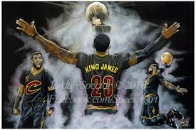 zoom on cleveland cavaliers wall art with cleveland cavaliers lebron james art print 2016 nba