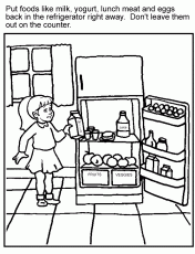 Small Picture Food Safety Coloring Pages Coloring Pages For Child Kids