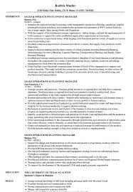 Download Operations Planning Manager Resume Sample as Image file