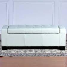 white leather storage ottoman. BEST Guernsey Leather Storage Ottoman White For