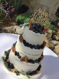 Semi Naked Wedding Cake London Jens Cakery