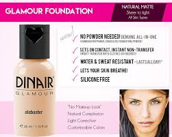 dinair airbrush makeup foundation tan shades glamour natural