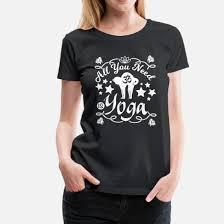 Katze Yoga Motivation Lustige Sprüche Englisch Frauen Premium T