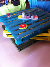 turn pallets into a coffee table