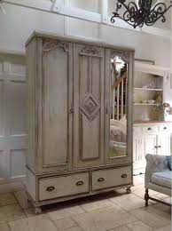 white wood wardrobe armoire shabby chic bedroom. White Wood Wardrobe Armoire Shabby Chic Bedroom. Pretty Antique French Style Carved Edwardian Painted Distressed Bedroom