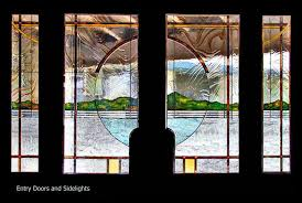 stained glass entry doors and sidelights bevels textured glass contemporary and traditional
