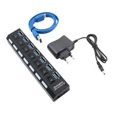 <b>USB</b> HUB 3.0 <b>4/7 Ports</b> Micro <b>USB</b> 3.0 HUB Splitter With Power ...