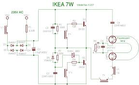 how to make led driver out of cfl components cfl ckt 7w png