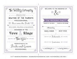 printable program templates free printable wedding program templates template business