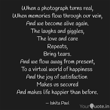 Joy Quotes Custom When A Photograph Turns R Quotes Writings By Ishita Paul