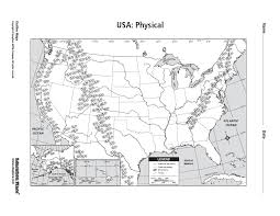 GMS 6th Grade Social Studies US Physical Map Maps Map Of Usa Map ...