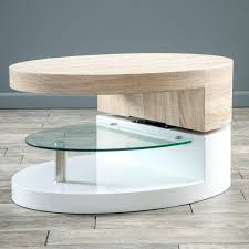 mod coffee table small oval with glass by knight lexmod molded fathom