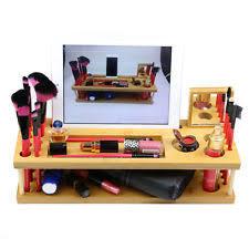 makeup organizer wood. handmade bamboo wood beauty makeup brush organizer phone/ipad holder station