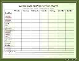 Printable Meal Planner Template Dinner Menu Free Weekly Editable ...