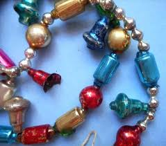 glass bead garland vintage tree inch bells for glass bead garland