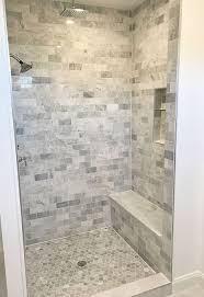 tile shower bench ideas.  Ideas Shower Tile Ideas Floor Is Carrara Marble Hexagon Tile  And Walls Are 3x6 Subway Seat A Solu2026 With Bench
