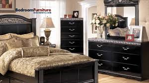 Ashley Furniture Bedroom Sets Ashley Constellations 4 Piece Poster Bedroom Set In Black Youtube