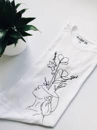 T Shirt Design For Drawing One Line Drawing T Shirt Alldayus Art Design Tshirt