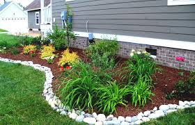 Backyard Rocks Landscape Edging Stone Ideas Garden Plastic Rock Landscaping