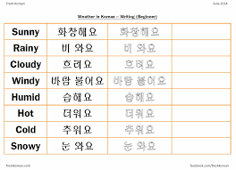 weather fresh korean weather korean writing