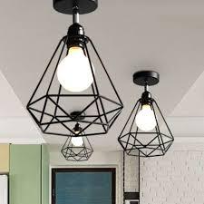 geometric diamond wire cage pendant light black furniture home decor on carou