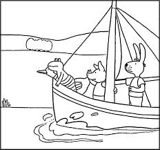 Schip Ahoy Kleurplaat Kikker Van Max Velthuijs Kikker Thema
