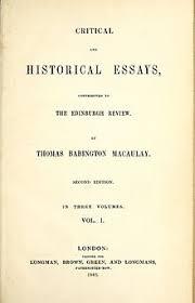 critical and historical essays macaulay  critical and historical essays macaulay