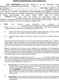 Download California Rental Agreement For Free - Formtemplate