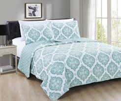 NEW Quilt Sets Just in Time for Spring! | Home Fashion Designs & Arabesque Collection 3-Piece Quilt Set Available in two color options: Grey  and Mineral Blue (pictured). Starting at $24.99. Adamdwight.com