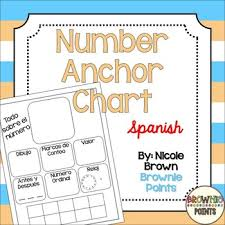 Number Anchor Chart In Spanish