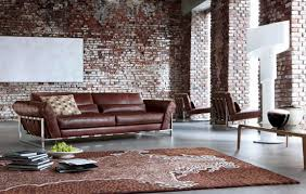 Pine Living Room Furniture Sets Rustic Exposed Brick Wall Design Of Minimalist Bedroom With Luxury