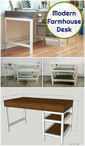 easy diy modern farmhouse desk plans