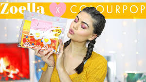 testing zoella x colourpop brunch date makeup collection