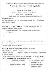 Sample College Resume Fascinating 60 College Resume Template Sample Examples Free Premium Templates