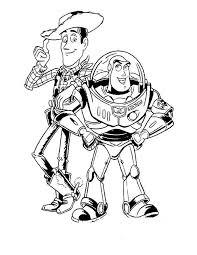 Colorare Toy Story Disegno Sceriffo Woody E Astronauta Buzz