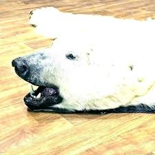 faux bear skin rug with head small size of white fake fur black be