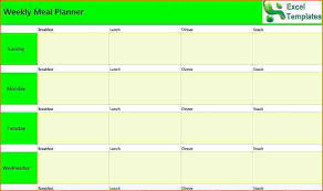 4 Weekly Planner Template Excel Bookletemplate Org