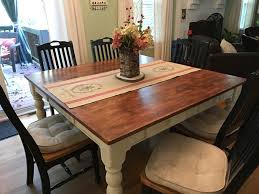 Diy Kitchen Table Distressed Kitchen Table Dining Room Modern Room With Bench Brown