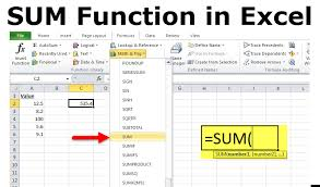 Sum Function In Excel Formula Examples How To Use Sum In