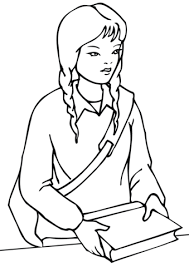 School Girl Coloring Page Free Printable Coloring Pages