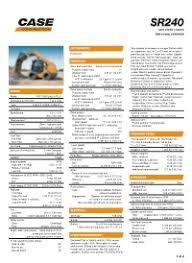Skid Steer Size Chart Case Sr240 Skid Steer Loader Case Construction Equipment