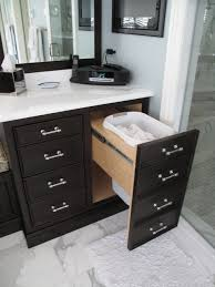 clothes hamper in master bathtraditional bathroom chicago