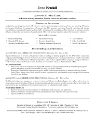 Accounts Payable Clerk Resume Examples Resume Templates for Accounting Free Download Create Functional 7