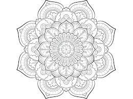 Mandalas Coloring Pages To Print Simple Design Mandala Dress